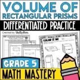 Volume of Rectangular Prisms Worksheets