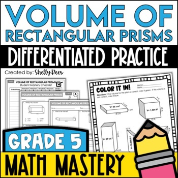 Volume of Rectangular Prisms Worksheets