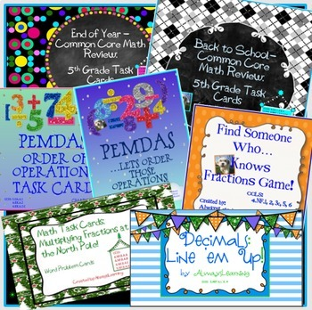 Fifth Grade Common Core Math Stations Bundle #2