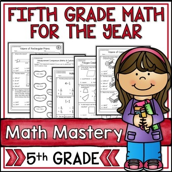Fifth Grade Common Core Math Super Bundle for the Year - 34 Packets!
