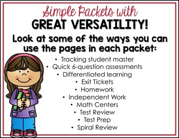 5th Grade Math Test Prep for the Year - 34 Packets!