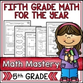5th Grade Math Test Prep Bundle for the Year - 34 Packets!
