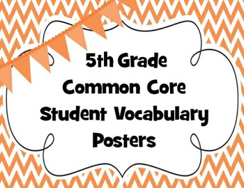Fifth Grade Common Core Math Vocabulary