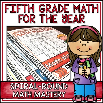 Fifth Grade Common Core Math for the Year Super Bundle - Spiral Bound HARD COPY