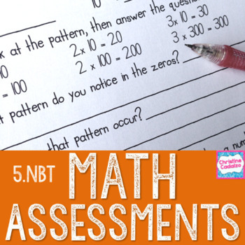 Math Assessments - Fifth Grade Base Ten