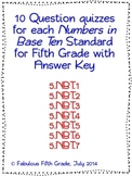 Fifth Grade Common Core Numbers in Base Ten/Place Value St