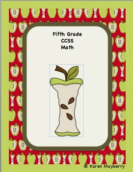 Fifth Grade Common Core Planning Template and Organizer for Math (Word)