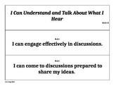 Fifth Grade Common Core Speaking Standards Pocket Chart Signs