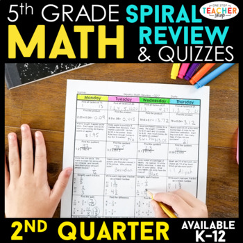 5th Grade Math Review | Homework or Morning Work | 2nd Quarter