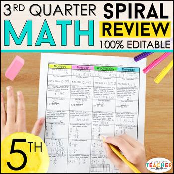 5th Grade Math Homework 5th Grade Morning Work 5th Grade M