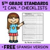 Fifth Grade Common Core Standards I Can Checklists 1