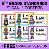 Fifth Grade Common Core Standards I Can Posters