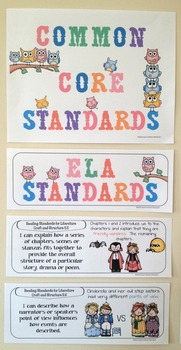 """Fifth Grade Common Core Standards """"I Can Statements"""" - ELA ONLY"""