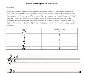 Fifth Grade Composition Worksheet