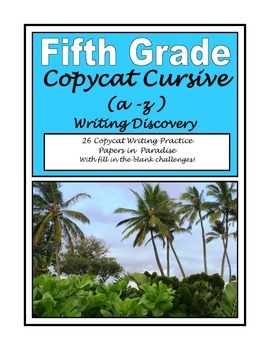 Cursive Writing Penmanship Early Finisher Challenges Fifth Grade