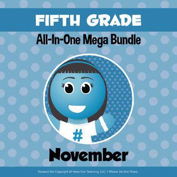 Fifth Grade Curriculum Bundle (NOVEMBER)