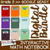 Fifth Grade DIGITAL Math Interactive Notebook BUNDLE   5th Grade Math TEKS
