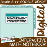 Fifth Grade DIGITAL Math Interactive Notebook: Measurement