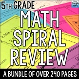 Fifth Grade Math Spiral Review for Daily Math Practice, Ho