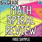 Fifth Grade Math Review: 7 FREE Worksheets
