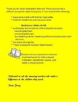 Fifth Grade Decimals Place Value Topic 2 Envision Math Pearson
