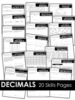 Fifth Grade Decimals Skill Pages