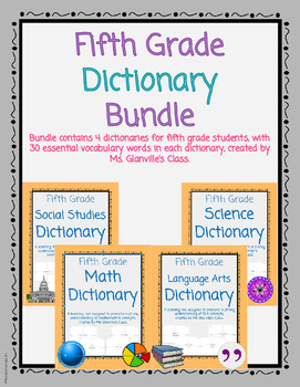 Fifth Grade Dictionary Bundle