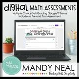 Fifth Grade Digital Math Assessment Bundle   Distance Learning