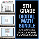 Fifth Grade Digital Math Games Bundle - for use with Googl