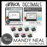 Fifth Grade Digital Math Decimals Bundle | Distance Learning