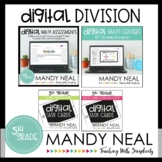 Fifth Grade Digital Math Division Bundle | Distance Learning