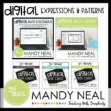 Fifth Grade Digital Math Expressions & Patterns Bundle   D