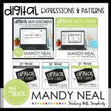 Fifth Grade Digital Math Expressions & Patterns Bundle | D