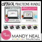 Fifth Grade Digital Math Fractions Bundle   Distance Learning