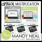 Fifth Grade Digital Math Multiplication Bundle | Distance