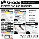 Fifth Grade Digital Math Place Value Bundle   Distance Learning