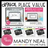 Fifth Grade Digital Math Place Value Bundle | Distance Learning
