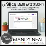 Fifth Grade Digital Self-Grading Decimal Math Assessments