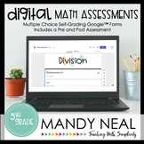 Fifth Grade Digital Self-Grading Division Math Assessments