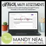 Fifth Grade Digital Self-Grading Expressions & Patterns Ma
