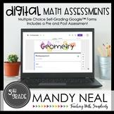 Fifth Grade Digital Self-Grading Geometry Math Assessments