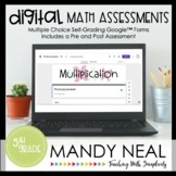 Fifth Grade Digital Self-Grading Multiplication Math Assessments