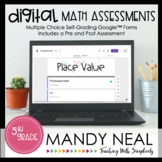 Fifth Grade Digital Self-Grading Place Value Math Assessme