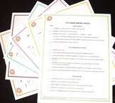 Fifth Grade ELA Common Core Posters-Set of Six - With Free Checklists