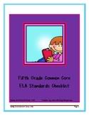 Fifth Grade ELA Common Core Standards Checklist