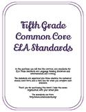 Fifth Grade ELA Standards