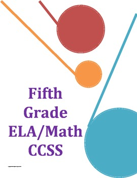 Common Core Checklist Fifth Grade ELA and Math