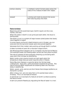 Fifth Grade Earth Science Study Guide