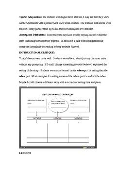 Fifth Grade Elements of a Story Unit