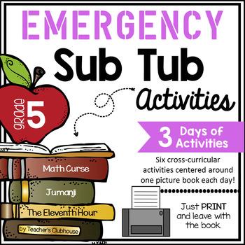 Fifth Grade Emergency Sub Activities Unit
